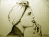 Naine huulepulgaga 2011 pliiats töödeldud versioon